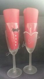 Champagneglazen bruiloft