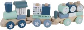 Houten Blokkentrein - Little Dutch (oude kleuren serie)