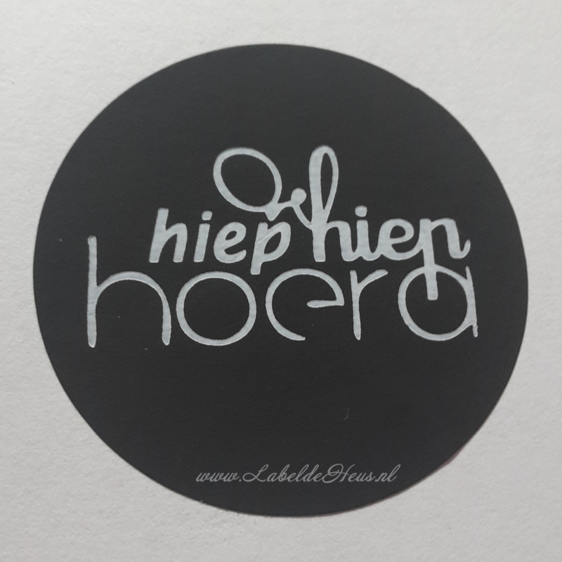 Sticker - Hiep Hiep Hoera