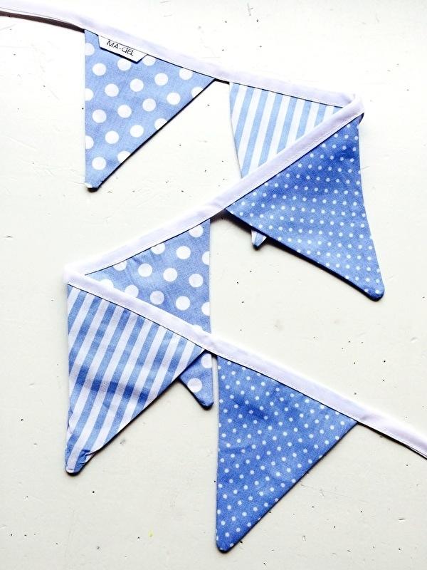 Mini slinger - Licht Blauw & Wit