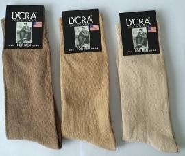 Naadloze sokken casuel mix beige heren 3 pak voor €4,95