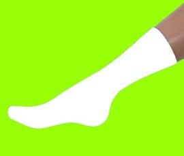 Naadloze sokken casuel wit  dames 4 pak voor €4,95