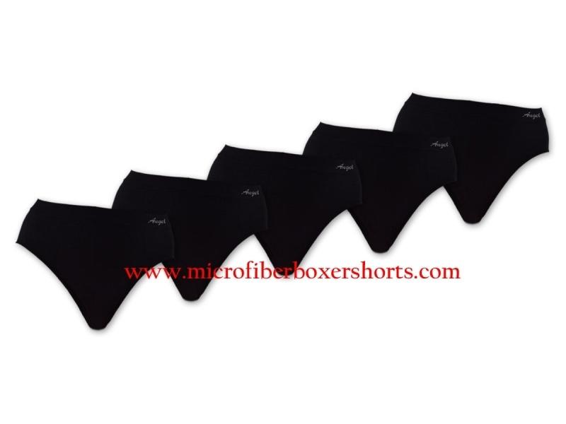 Naadloos Microfiber Taille Slips Sweet Angel zwart  4 voor €10,-