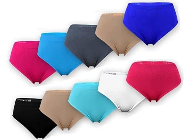 Naadloos Microfiber Taille Slips 4 voor €10,-