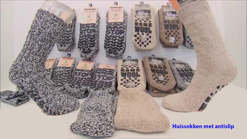 Warme sokken voor in huis met super antislip onder de sok €4,95