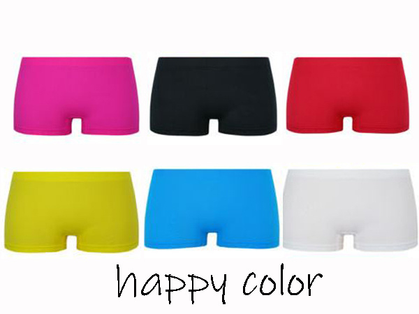 Naadloze Microfiber Boxershorts Happy Color 4 voor €10,-