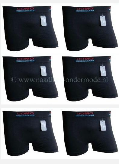 Naadloos Microfiber Boxershorts Uomo Black Edition  4 voor €9,95