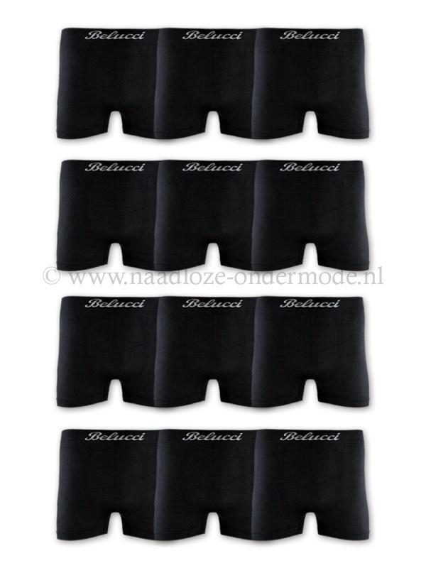 Naadloos Microfiber Boxershorts Black edition  4 voor €9,95