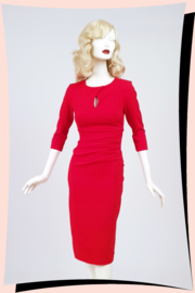 Ubrique Pencil Dress Red