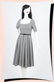 Gigi Swing Dogtooth Dress