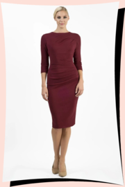 Ontario Pencil Dress Burgundy