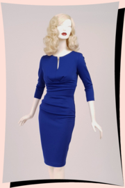 Donna 3/4sleeve Dress Cobalt Blue