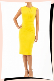 Clara Pencil Dress Fresia Yellow