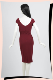 Polly Pencil Dress Wijnrood