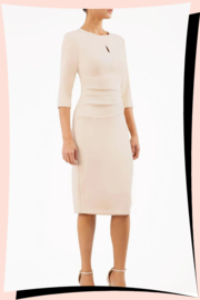 Ubrique Pencil Dress Sandshell Beige
