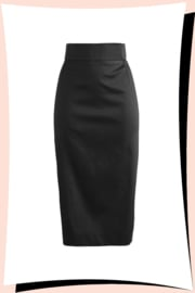 Long Island Pencil Skirt Zwart