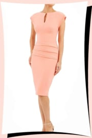 Daphne Pencil Dress Tropical Peach