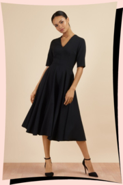 Myla Swing Dress Zwart