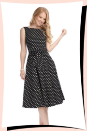 Frances Polka Dot Swing Jurk