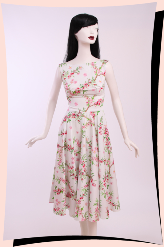Holly Blossoms Swing Dress
