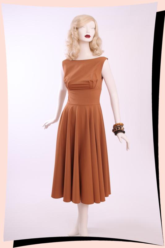 Holly Breeze Swing Dress Caramel