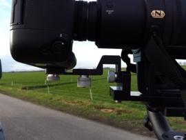 steun tbv van camera aan lenssteun te monteren