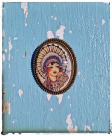 Broche Old-School Indian girl (bronskleurig)