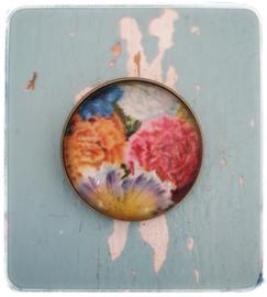 Broche - Vintage bloemen