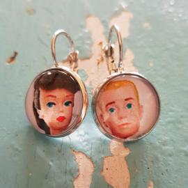 Oorbellen - Retro - Barbie & Ken