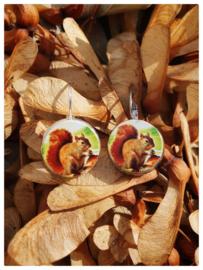 Oorbellen - Eekhoorntjes