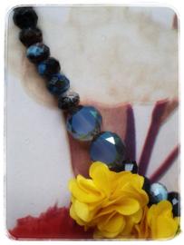 Ketting - Frida Kahlo - Blauw & Geel