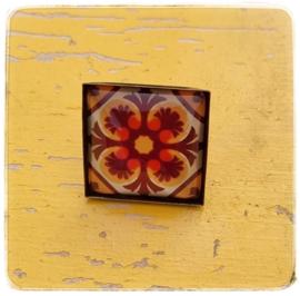 Ring - Retro Oranje met geel