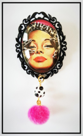Broche - Vintage girl pink
