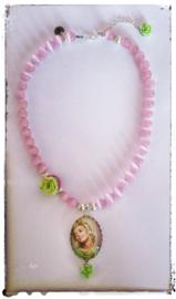 Ketting - Marilyn Monroe - pink & green