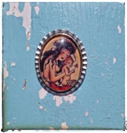 Broche Old-school tattoo Mermaid (zilverkleurig)