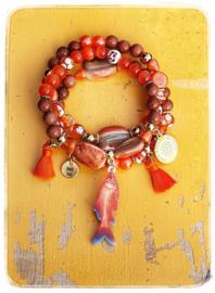 Armbanden set van 3 - Goudvis
