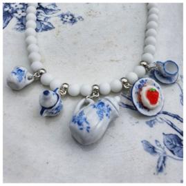 Ketting - Porseleinen servies Delfts blauw