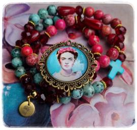 Armbanden set van 3 - Frida Kahlo - Love & Faith