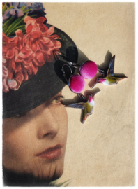 Oorbellen - Kolibries pink velvet
