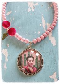 Ketting - Frida Kahlo - Cactus & Pink