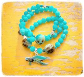 Armbanden set van 3 - Sea turtle