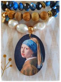 Armbanden set van 3 - het meisje met de parel