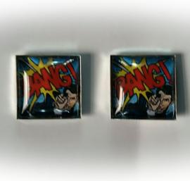 Manchetknopen - pop art - comics - BANG!