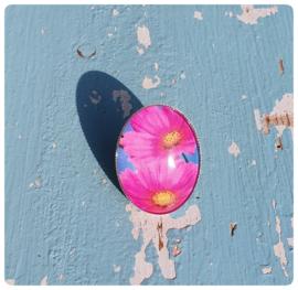 Ring - roze bloemen