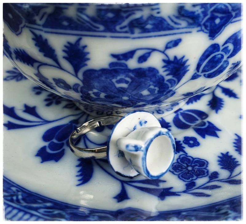 Ring - Delfts blauw theekopje