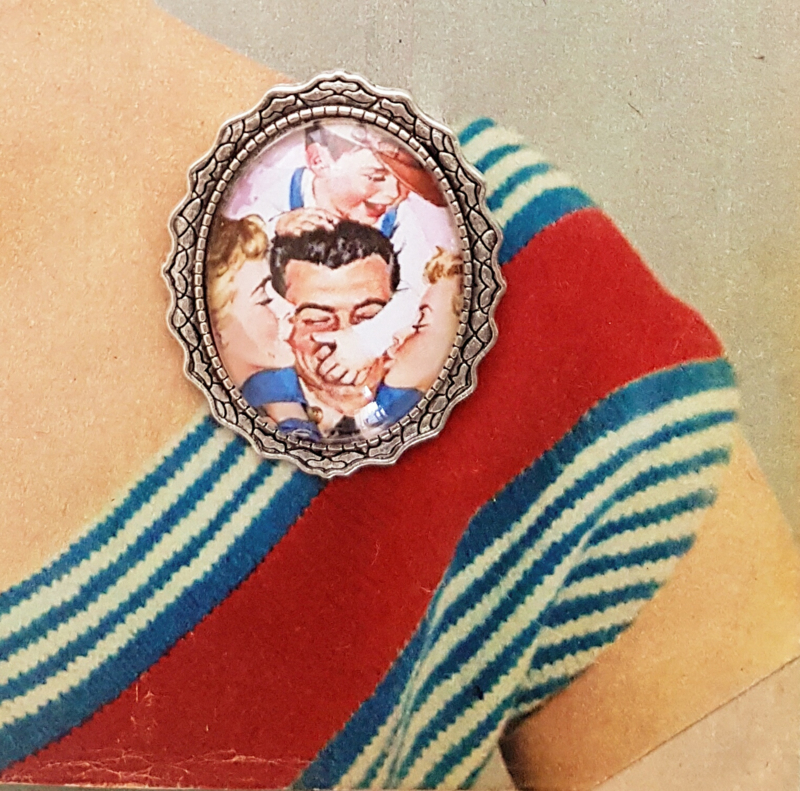 Broche - Vintage happy family