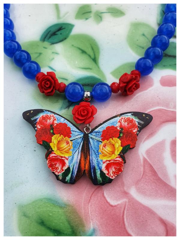 Ketting - Vlinder hemelsblauw