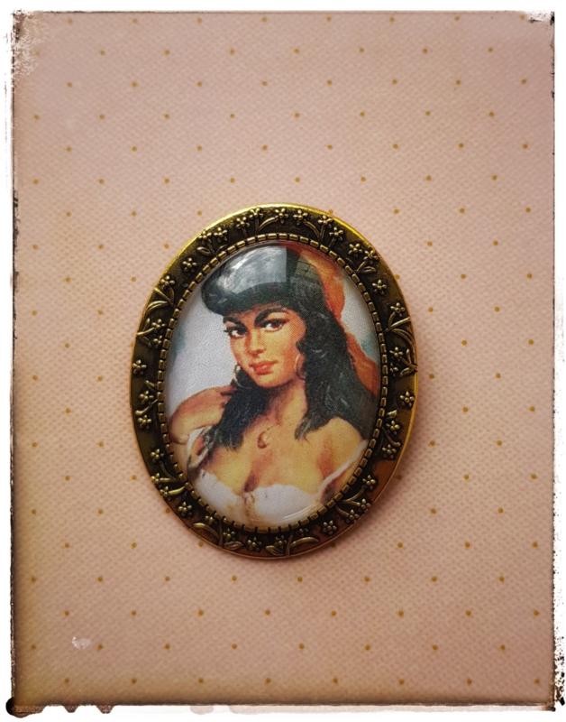 Broche - Zigeunermeisje goud