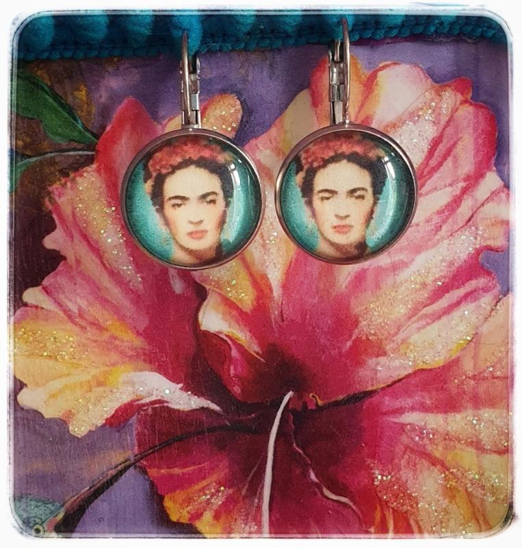 Oorbellen - Frida Kahlo - Turquoise