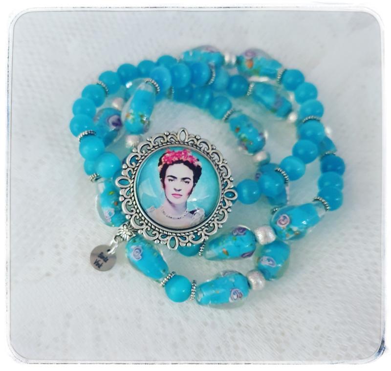 Armbanden set van 3 - Frida Kahlo - blauwtinten